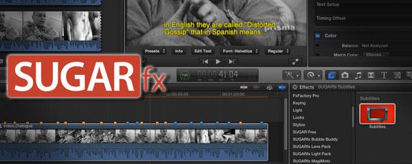 sugar fx subtitle fcpx