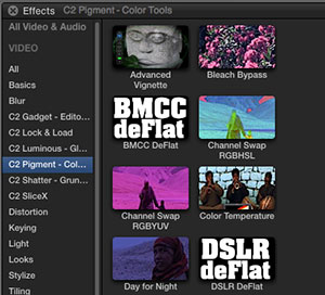 Free Final Cut Pro X plugins from Coremelt for Blackmagic Cinema