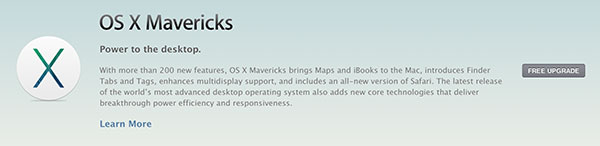 mavericks osx release