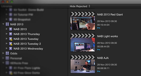 FCPX new projects