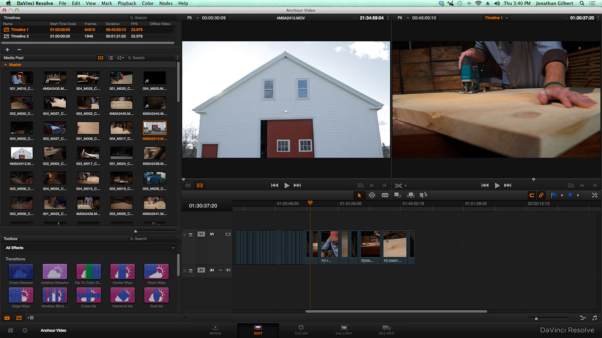 anchour FCPX DaVinci resolve