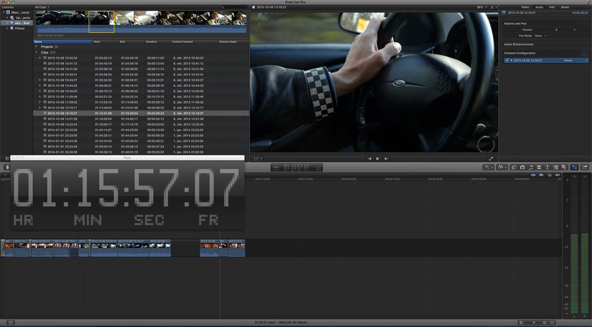 pixie timecode big fcpx
