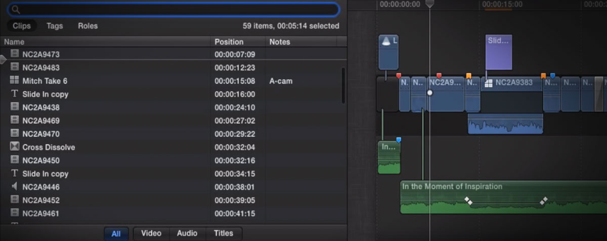 MBS timeline index fcpx