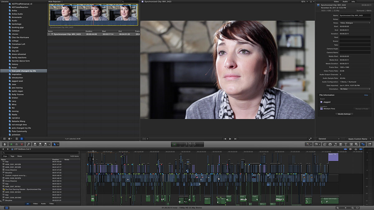 off the floor magnetic timeline fcpx