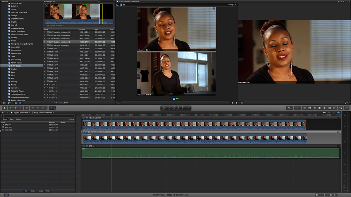 off the floor sync sound fcpx