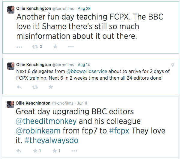 BBC news tweets