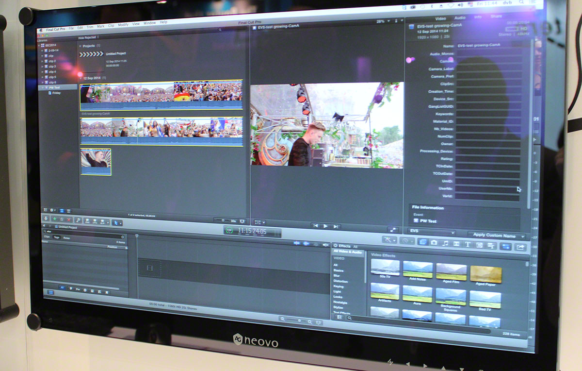 EVS support FCPX 2