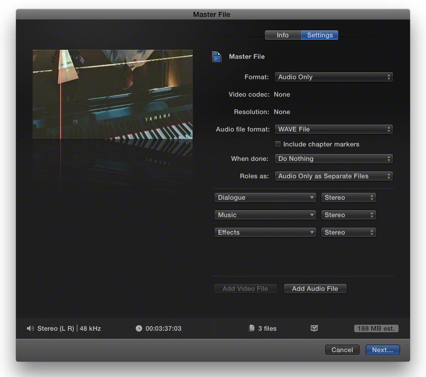FCPX ROL 12