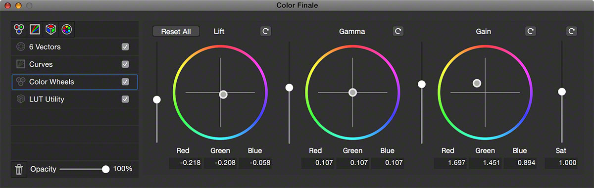 Interface color wheels fcpx
