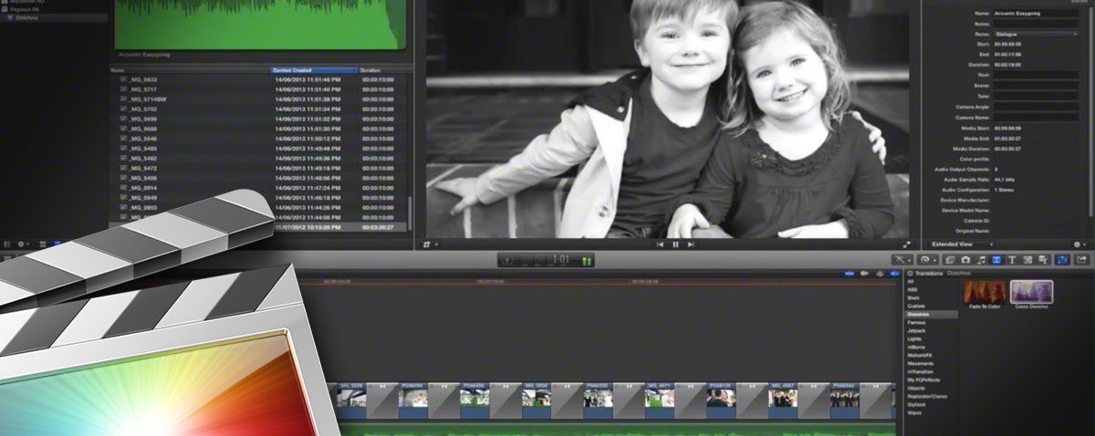 Building a slideshow in Final Cut Pro X faster than you can watch the result