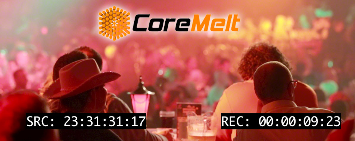 Source and record timecode overlays with free plugins from Coremelt