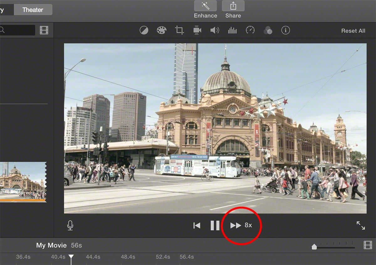 imovie force click