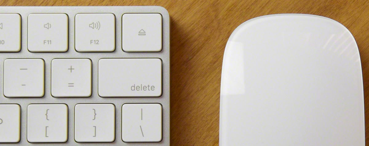 magic mouse keyboard fcpx