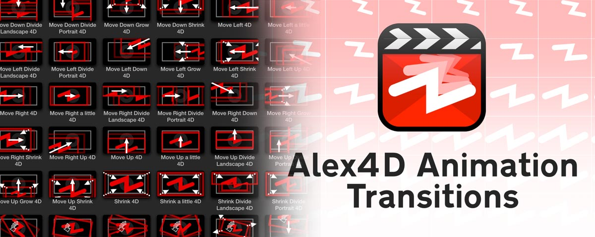 alex4d animation transitions plugin fcpx