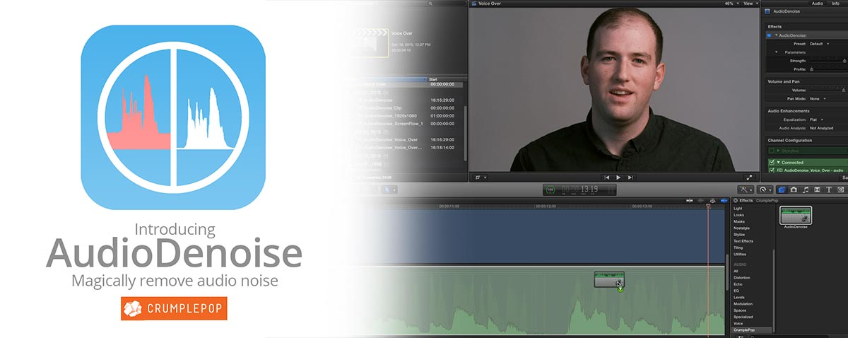 crumplepop audiodenoise fcpx
