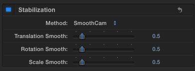 smoothcam settings