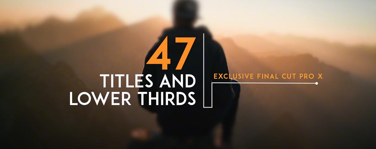 47 Clean titles and lower thirds for $25 from LenoFX