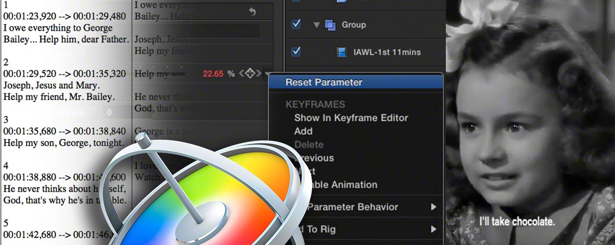 How to generate subtitles in Final Cut Pro X by using Motion generators