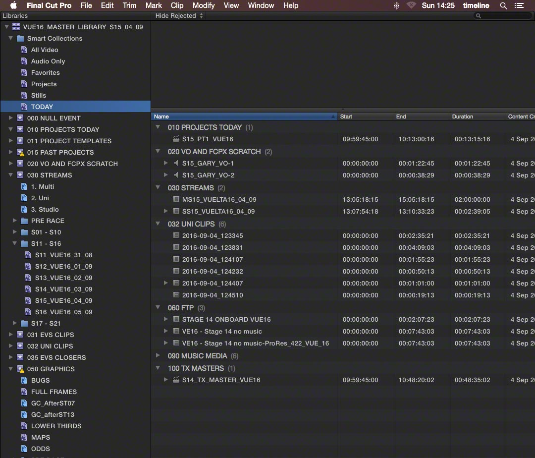 events time sensitive fcpx