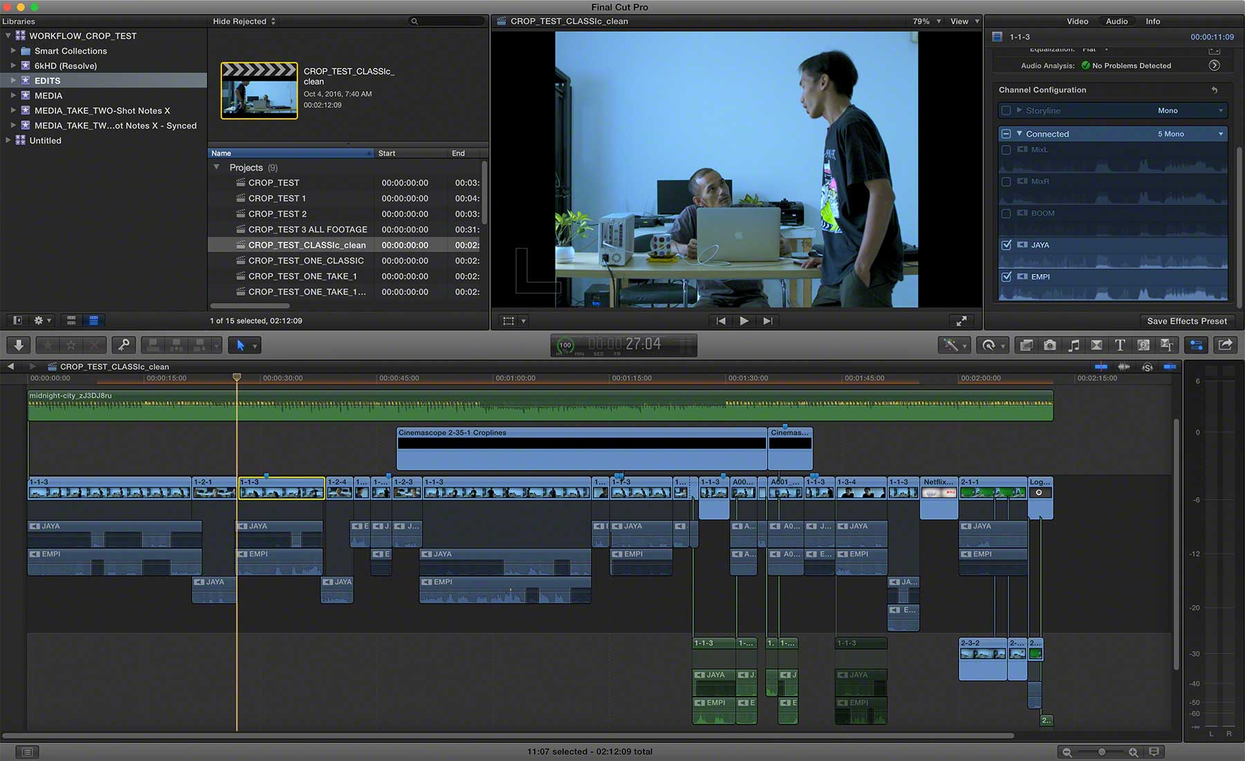 FCPX Project Finished Edit