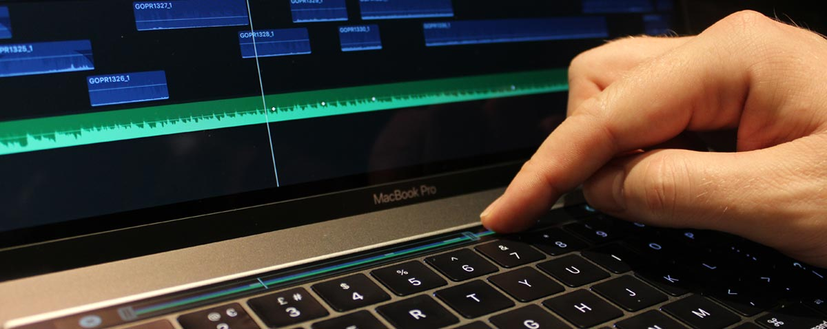 fcpx touch bar macbook pro