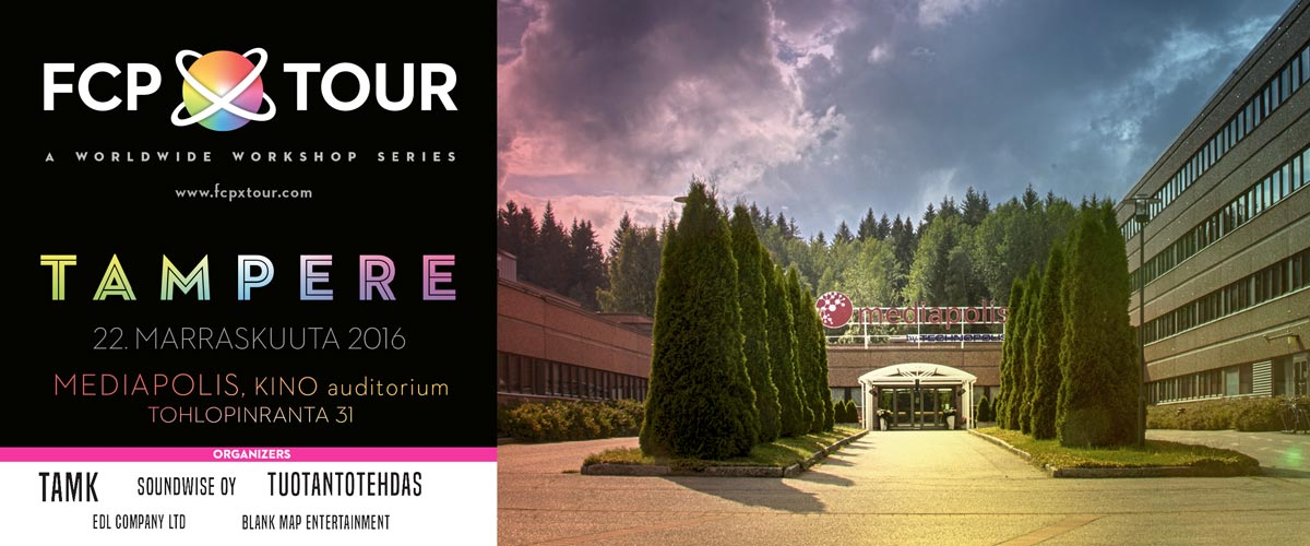THE FCPX Tour Goes North to Tampere, Finland