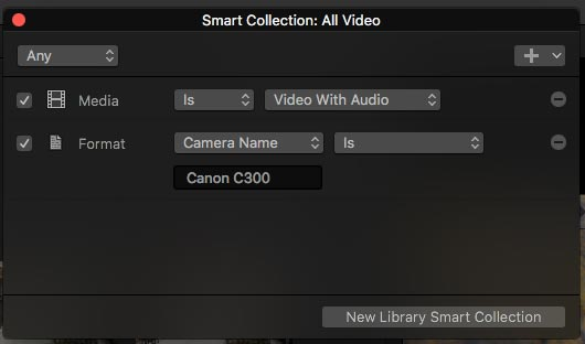 smart collection fcpx