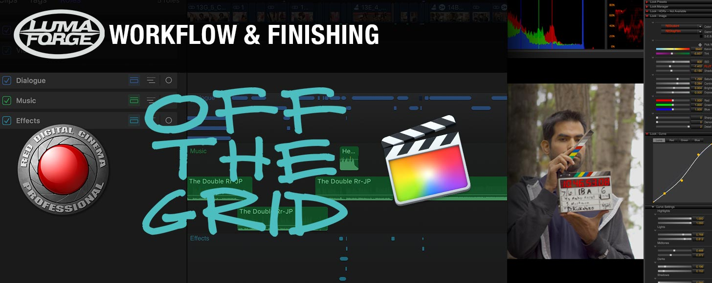 Off The Grid: A Modern FCPX-RED-Resolve Workflow- Part 4- Group Workflow and Finishing in FCPX