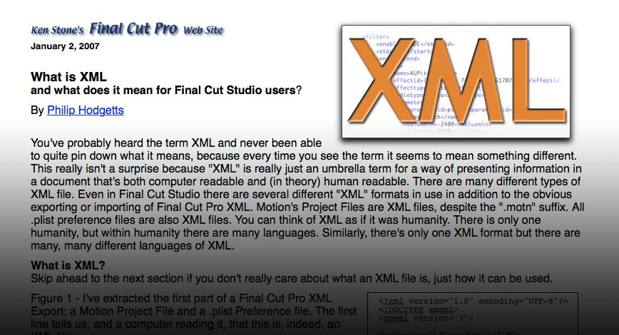Demystifying Final Cut Pro XMLs by Philip Hodgetts and