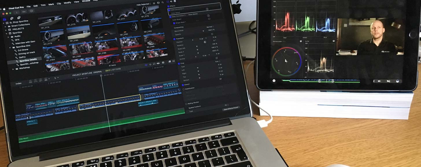 Using an iPad as a Touch Bar with Final Cut Pro X
