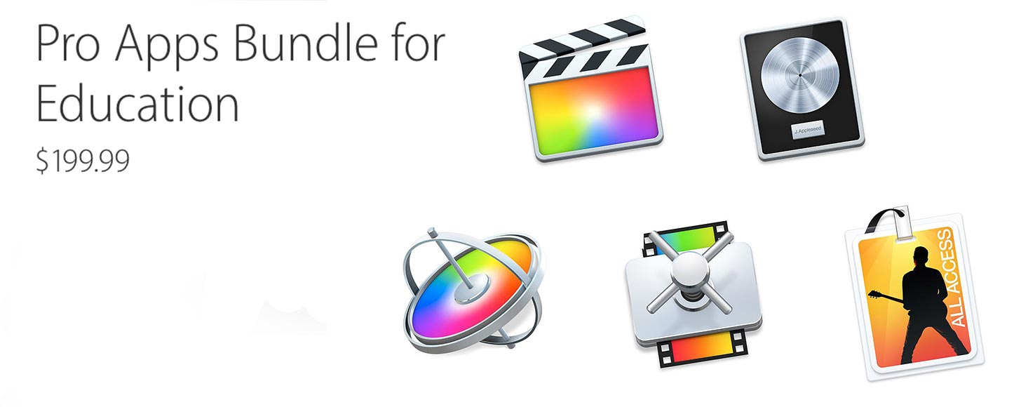 Apple Announces $200 Pro Apps Bundle for Education (Now Available Outside USA)