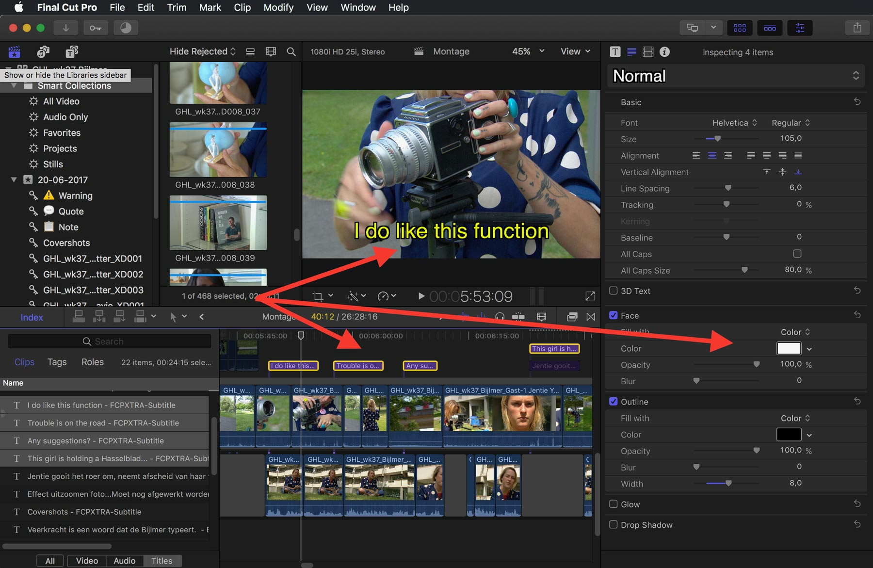 Drawing Lines In Final Cut Pro : Speeding up the creation of subtitles in final cut pro with