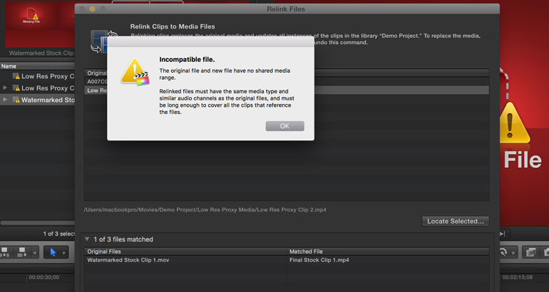 fcpx force relink