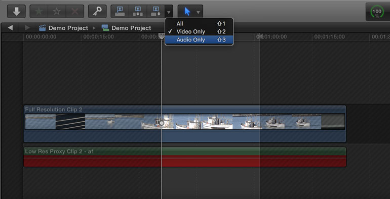fcpx proxy editing workflow force relink