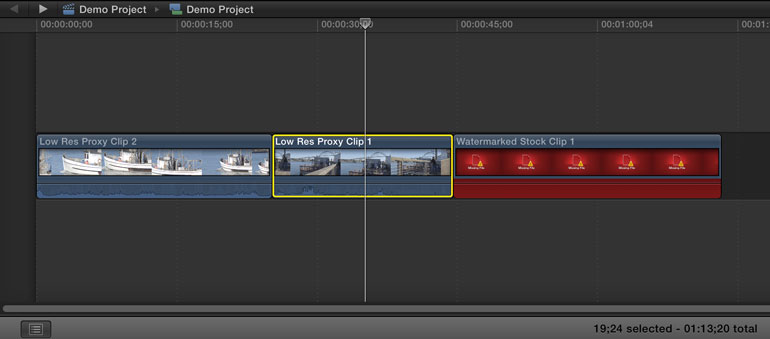 final cut pro x external proxies