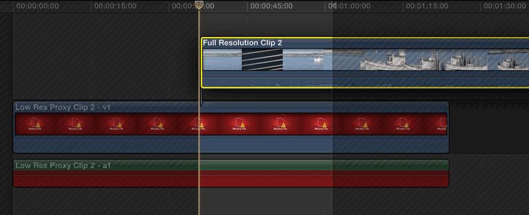 final cut pro x video editing proxy media
