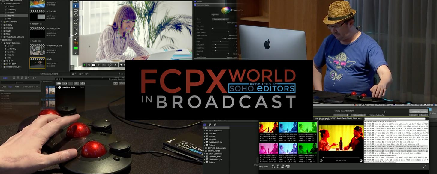 Roger Bolton from Coremelt Demos His Chromatic Color Correction Plugin and the Scribeomatic Text Based Dialogue Search Tool for FCPX