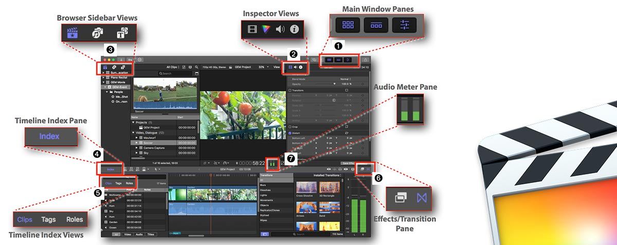 Final Cut Pro X 10 4 - How it Works Graphically Enhanced