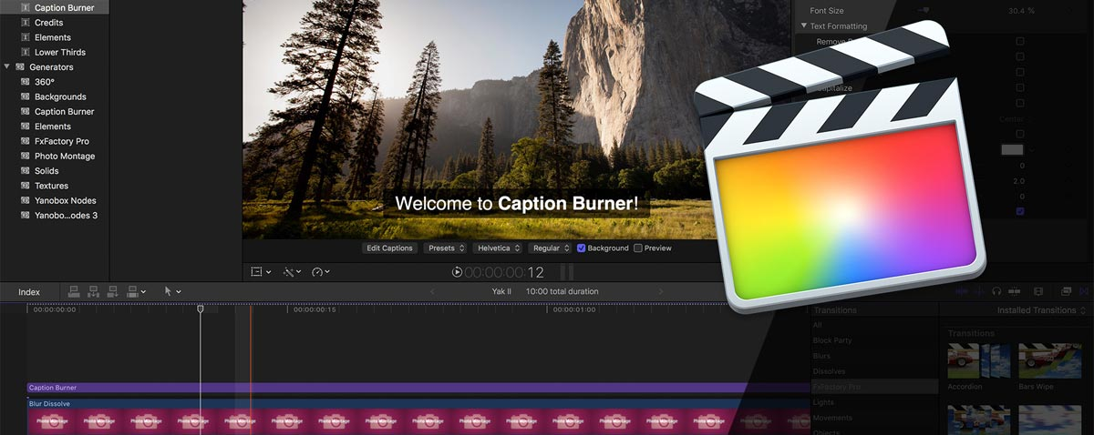 Export From FCPX With Captions and Subtitles on the Video With