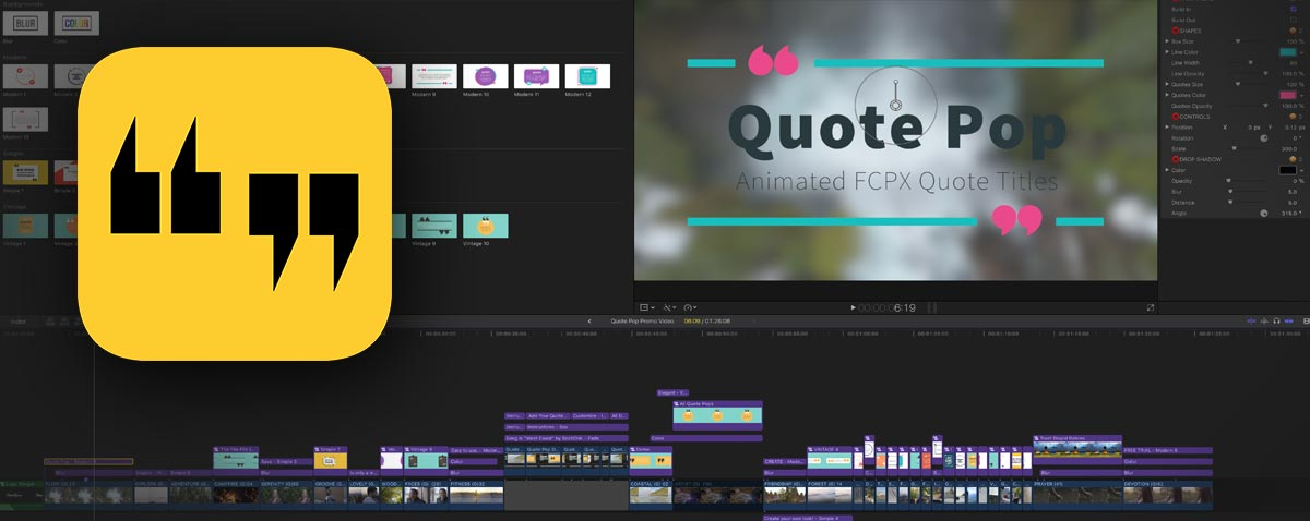 Quote Pop - 32 Final Cut Pro X Quote Titles and Animations From