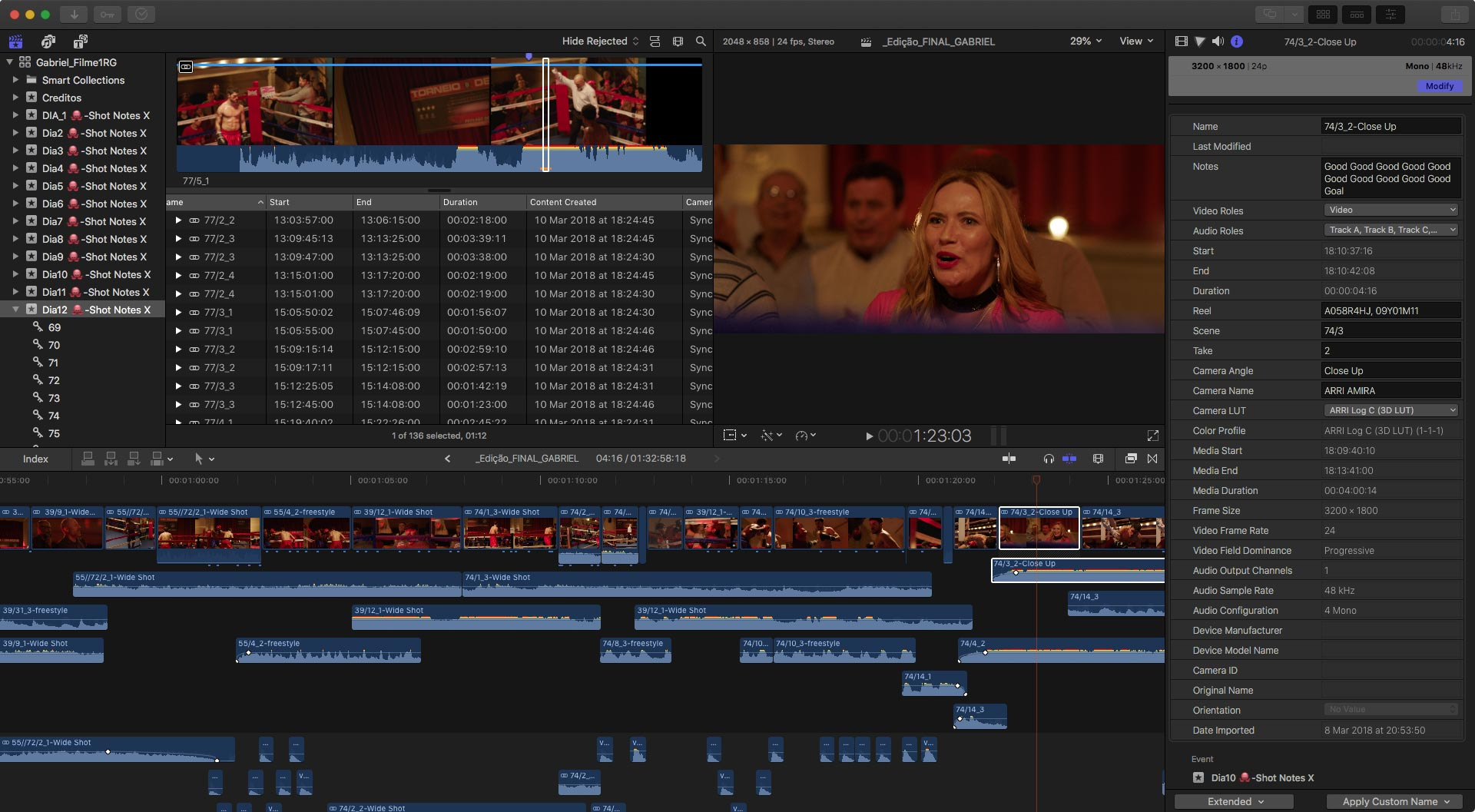 Editing a Boxing Movie on FCPX: An Updated Journey