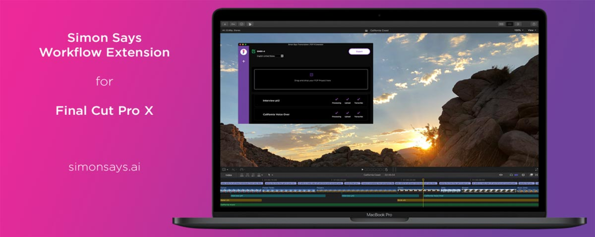 Simon Says Transcription Workflow Extension Released for Final Cut Pro X