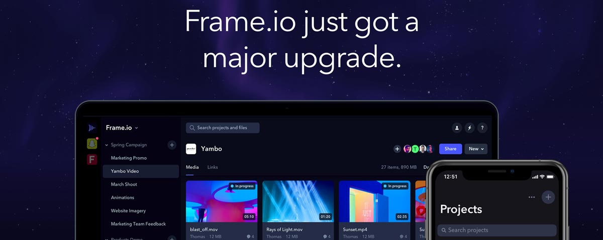 Online Review Service Frame.io Adds 10 New Features