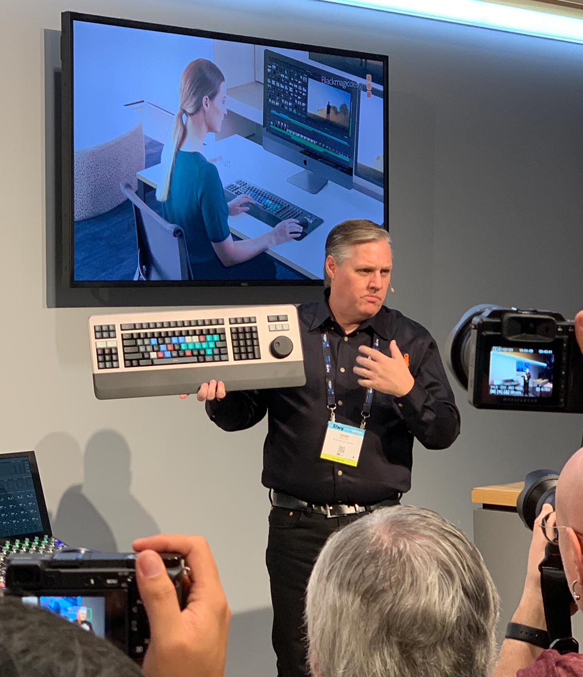 Day 1 of Nab 2019 - It's All About a Keyboard and 8k Production