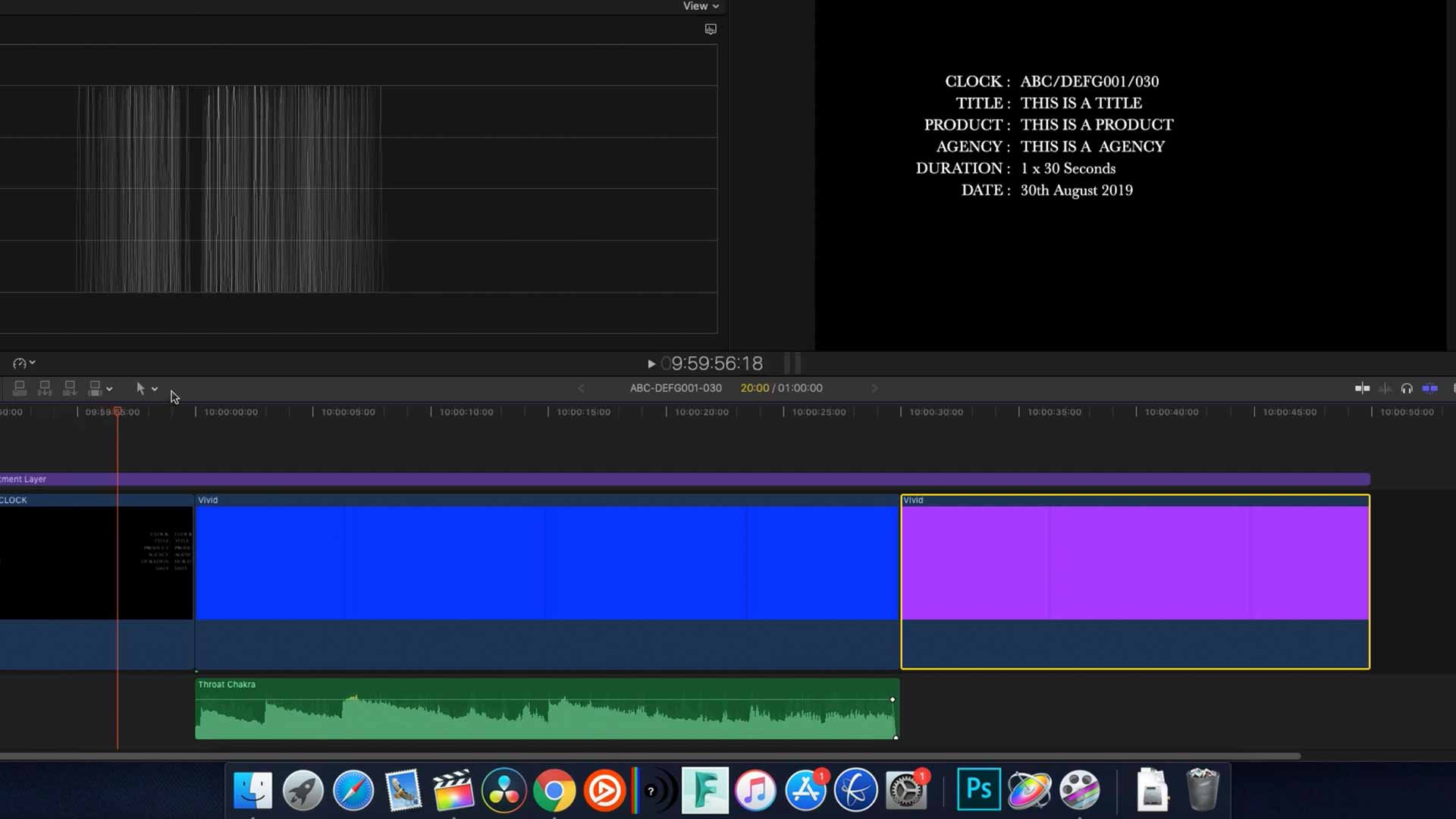 Format a TV Commercial in Final Cut Pro X for Delivery in the UK