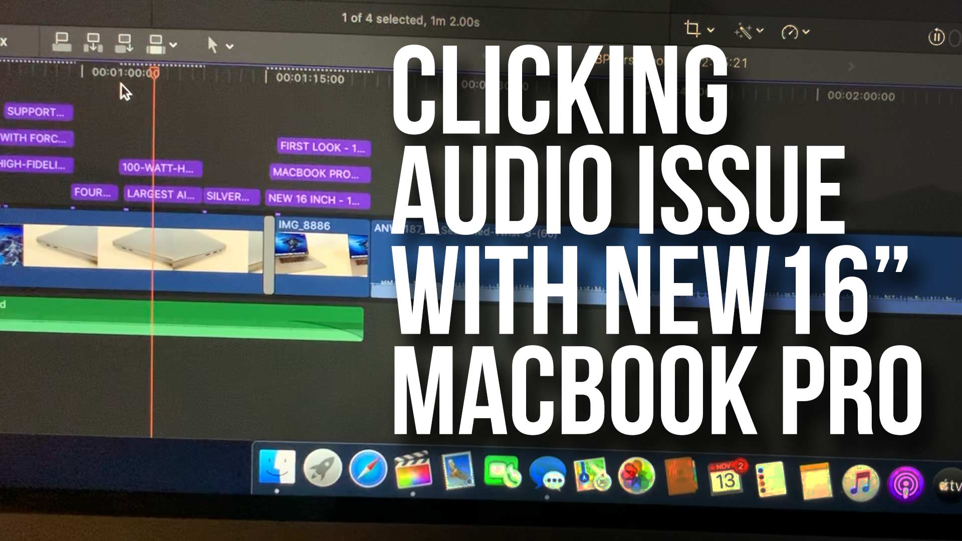 Clicking Audio Issue with New 16 Inch MacBook Pro and Final