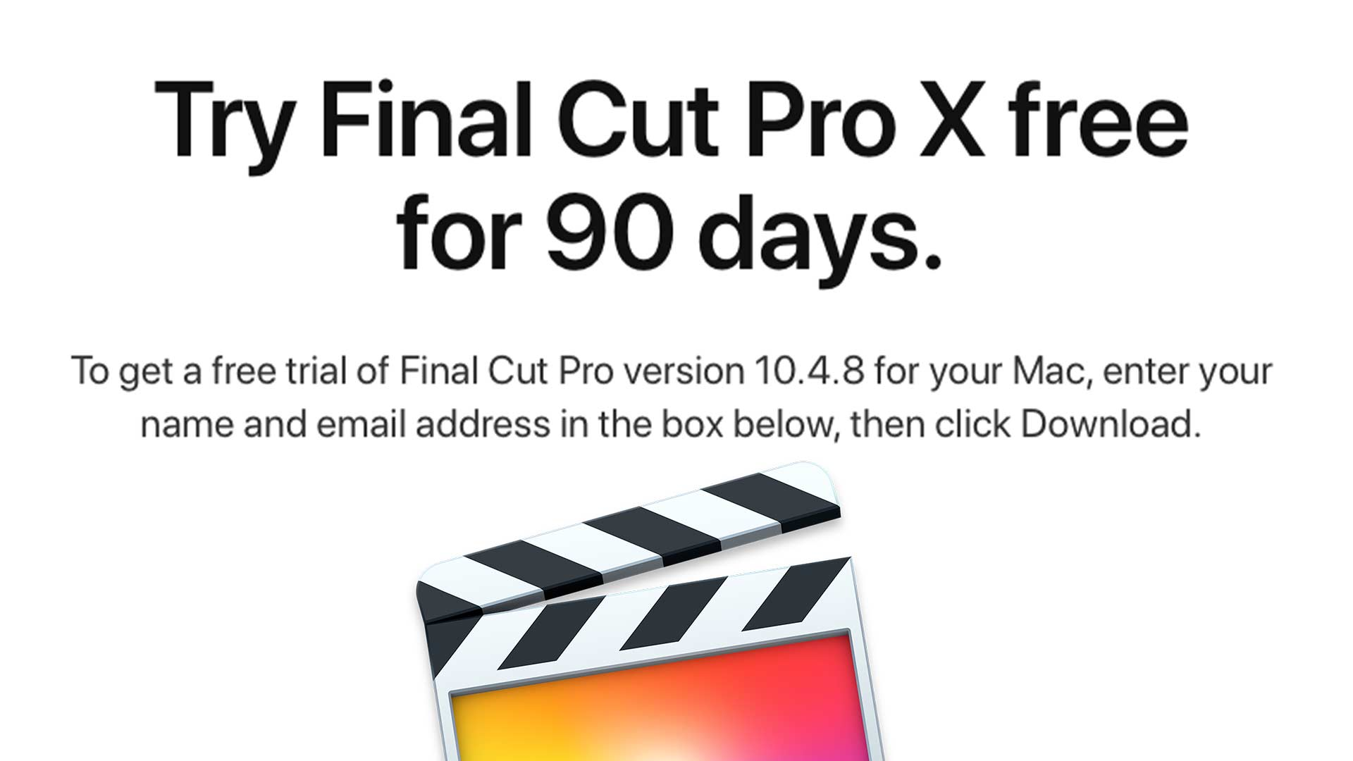 Free 90-day trials for Final Cut Pro X and Logic Pro X