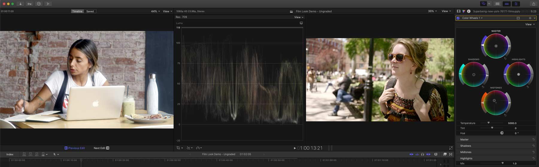 FilmLook ClipGradeWithComparison