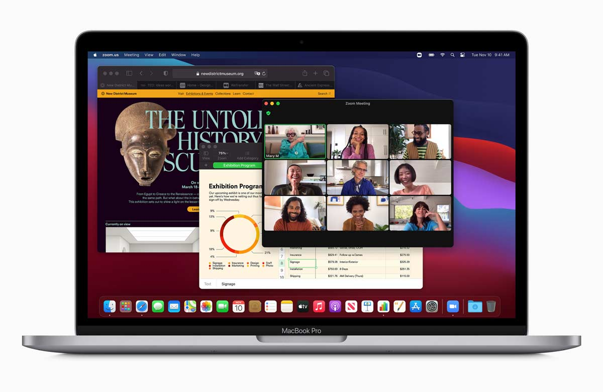 Apple new macbookpro bigsur screen 11102020