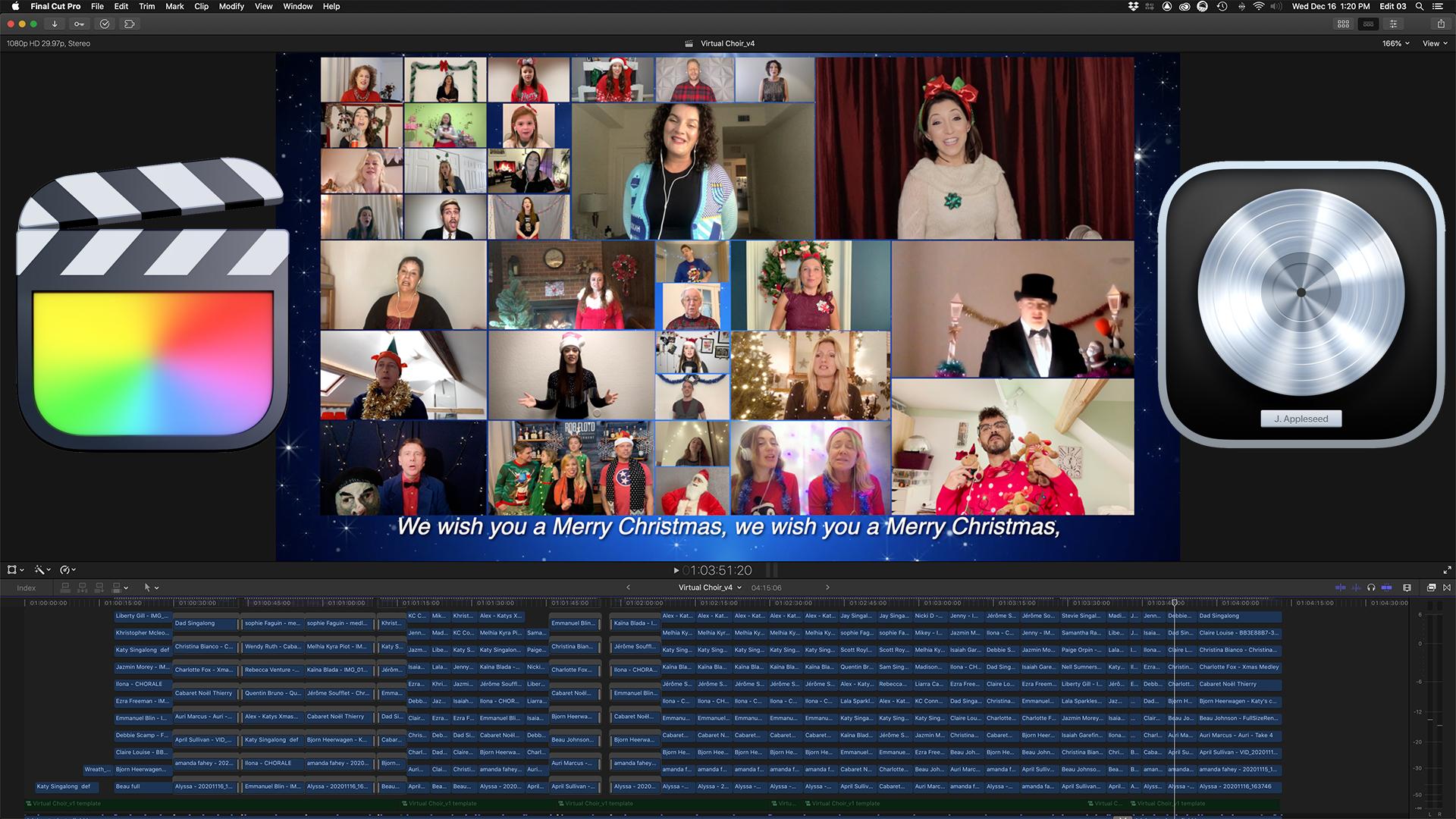 Holiday Cabaret de Noël - Virtual Show Production in Final Cut Pro